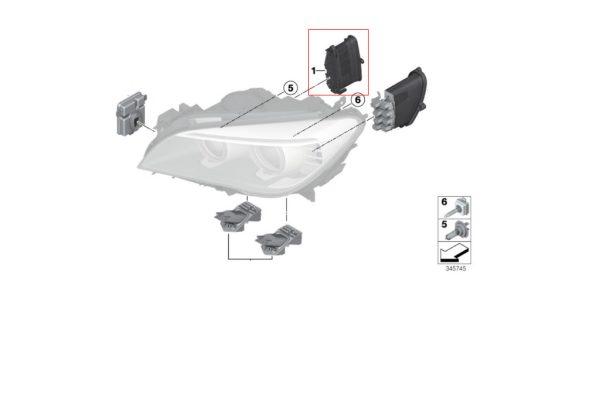 Nowy Oryginalny  LED Moduł Sterownik TMS BMW F01 F02 F03 LCI 7440875