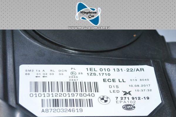 1x Nowy Oryginalny Reflektor Bixenon Xenon Led Nieskrętny Prawy BMW 5 F10 F11 7271912